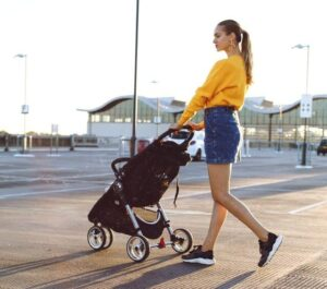 Can I check a stroller without a child